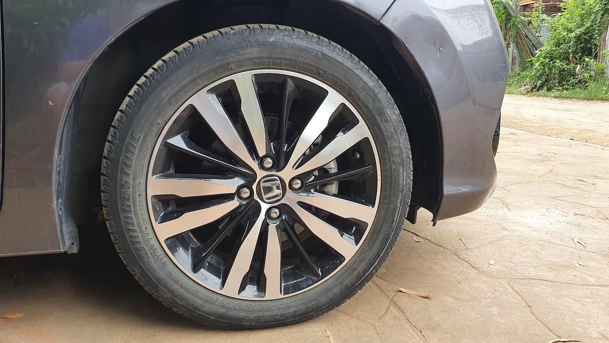 The Honda Jazz Front Tire