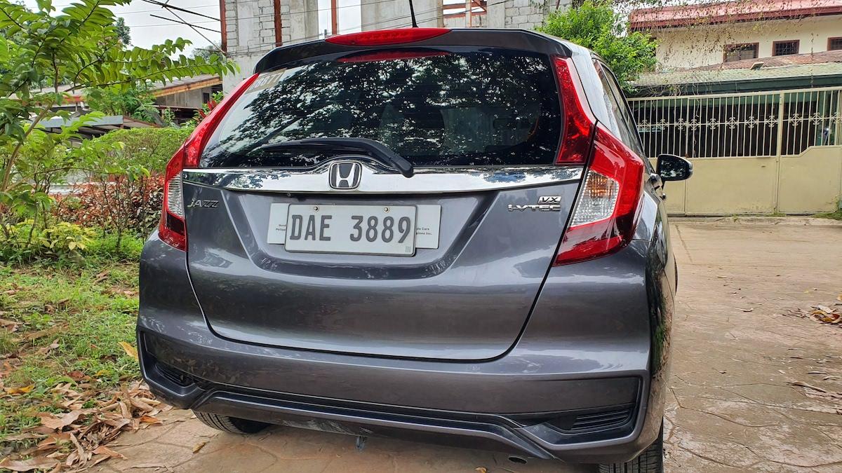 The Honda Jazz Rear view