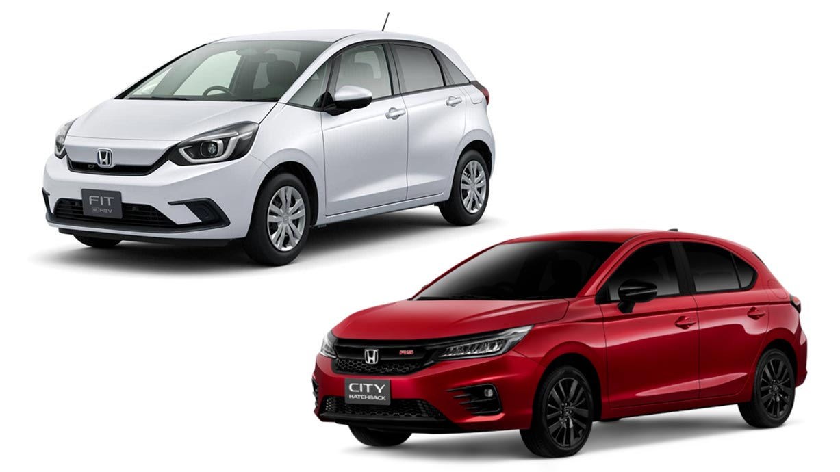 The Honda Jazz and Honda City Hatch