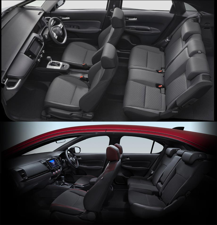 The Honda Jazz and Honda City Hatch Passenger Seat and Space Comparison