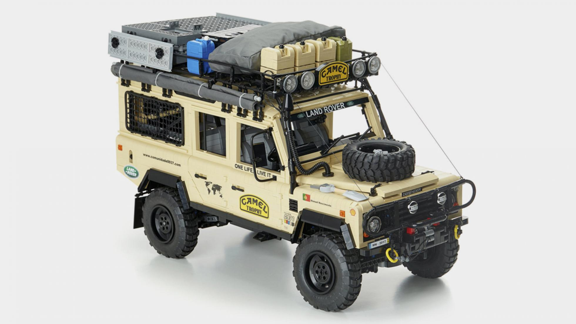 The Camel Trophy Land Rover Angled Front View
