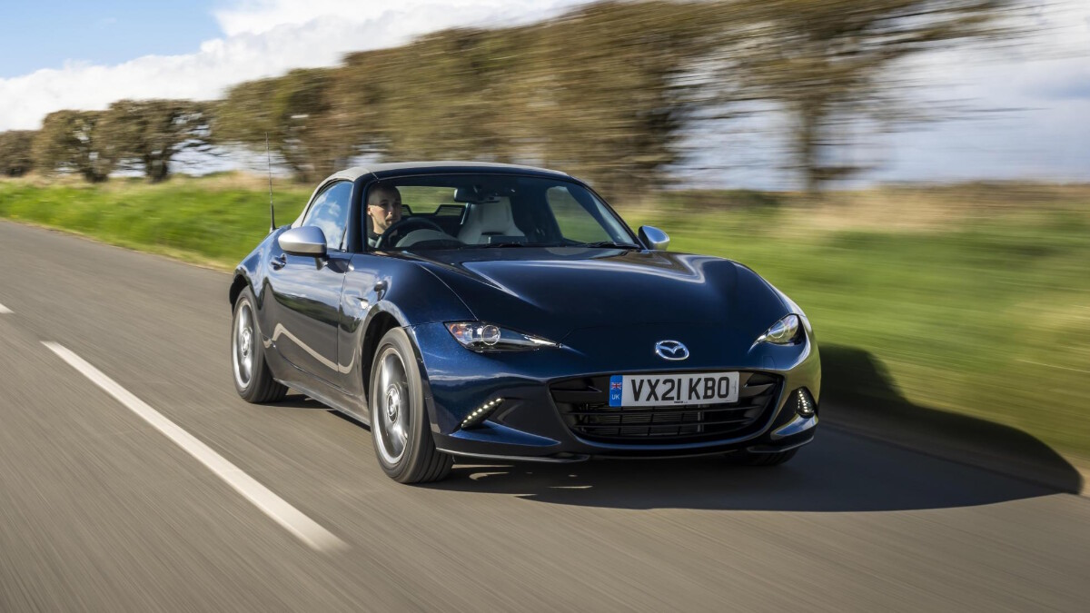 The Mazda MX-5 Sport Venture Edition On the Road Front View