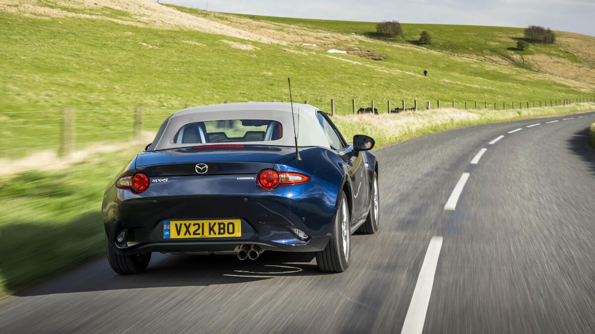 The Mazda MX-5 Sport Venture Edition On the Road Rear View