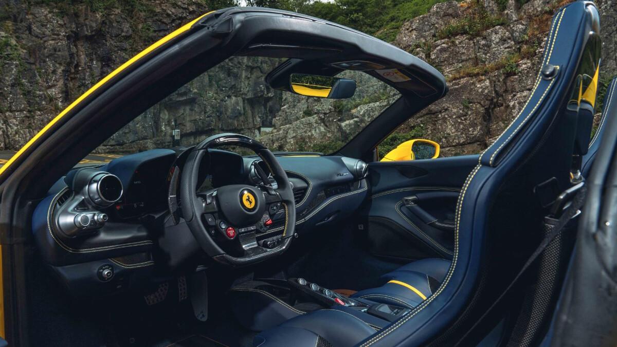 The Ferrari F8 Dashboard and Interior