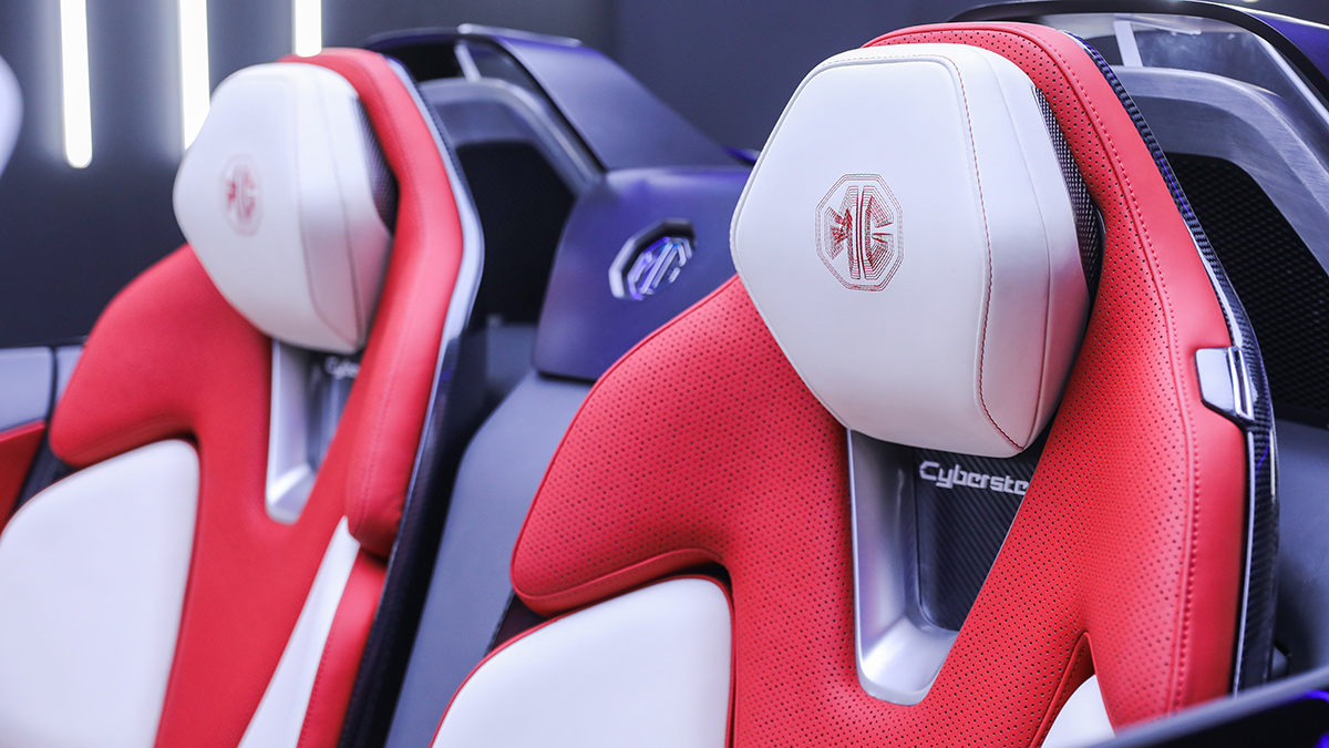The MG Cyberster Passenger Seats