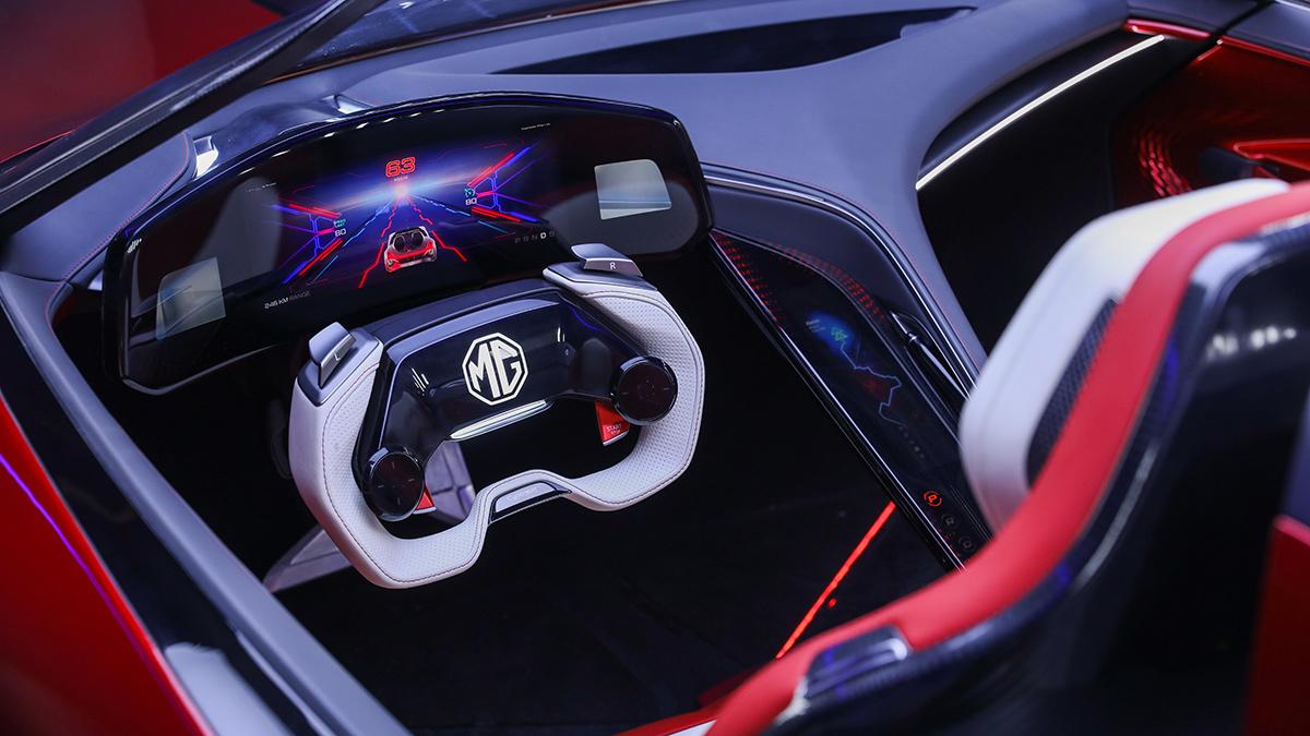 The MG Cyberster Steering Wheel