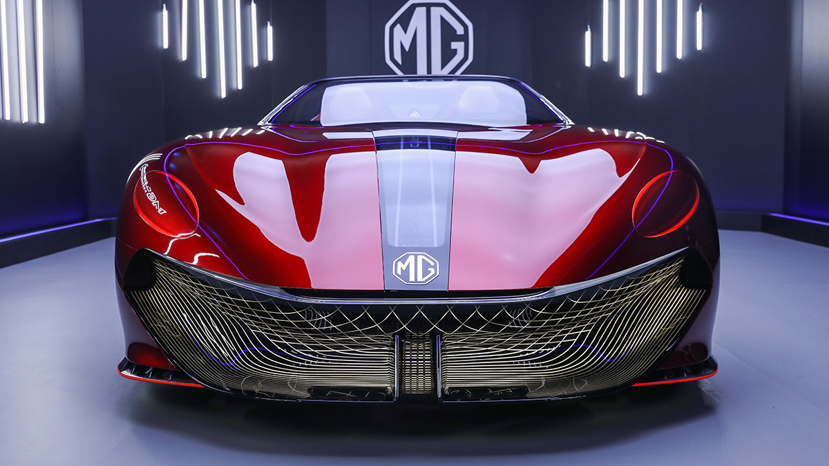 The MG Cyberster Front View