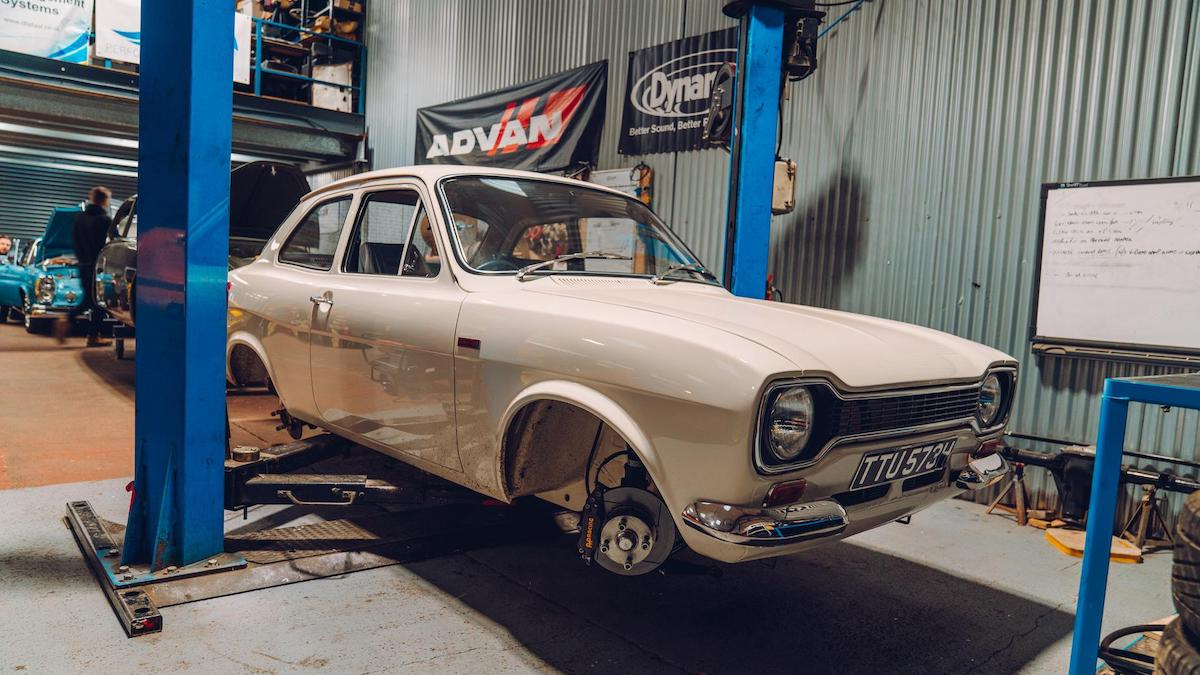 A Ford getting work from the Retropower garage