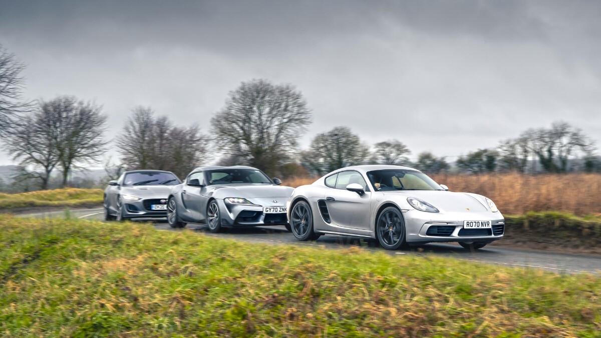 The Porsche, Jaguar, and Toyota caravan