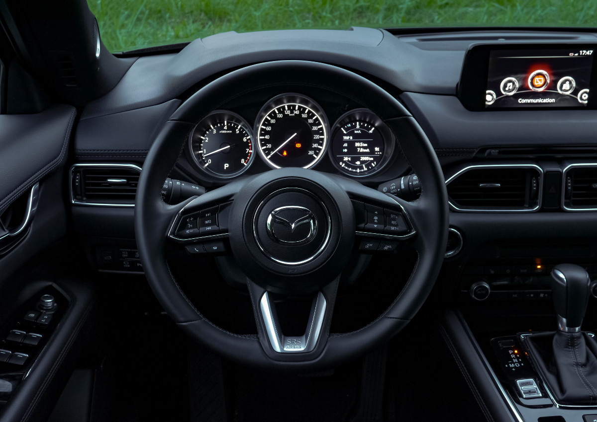 The Mazda CX-8 AWD Exclusive Steering Wheel