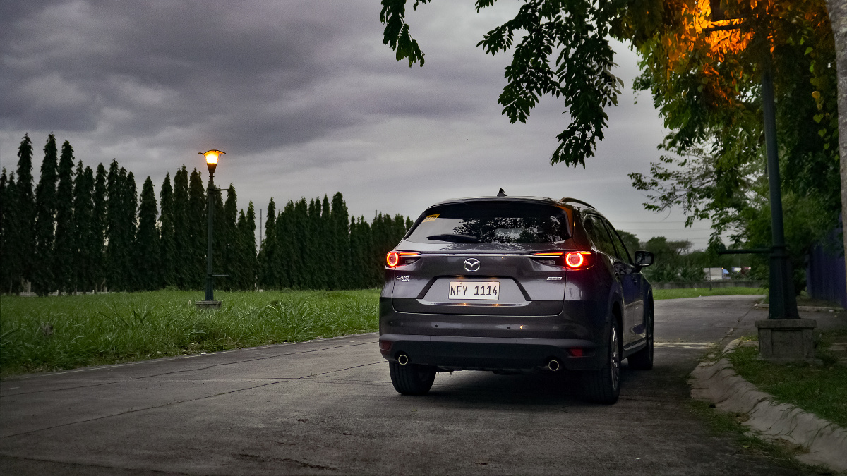 The Mazda CX-8 AWD Exclusive Rear View