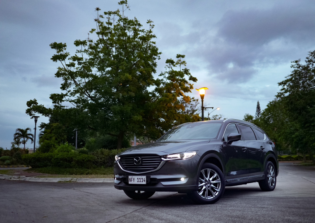 The Mazda CX-8 AWD Exclusive Angled Front View