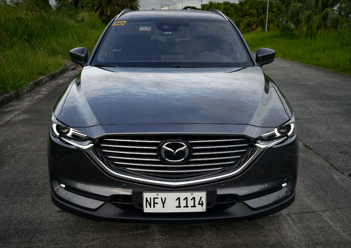 The Mazda CX-8 AWD Exclusive Top Angled Front View