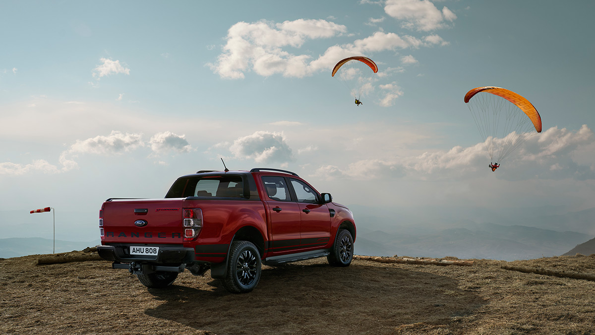 The Ford Ranger Stormtrak in the Outdoors