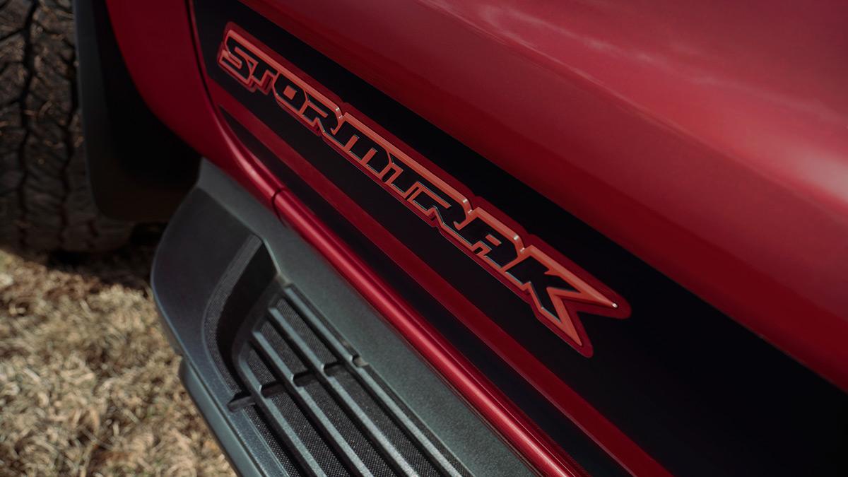 The Ford Ranger Stormtrak Emblem