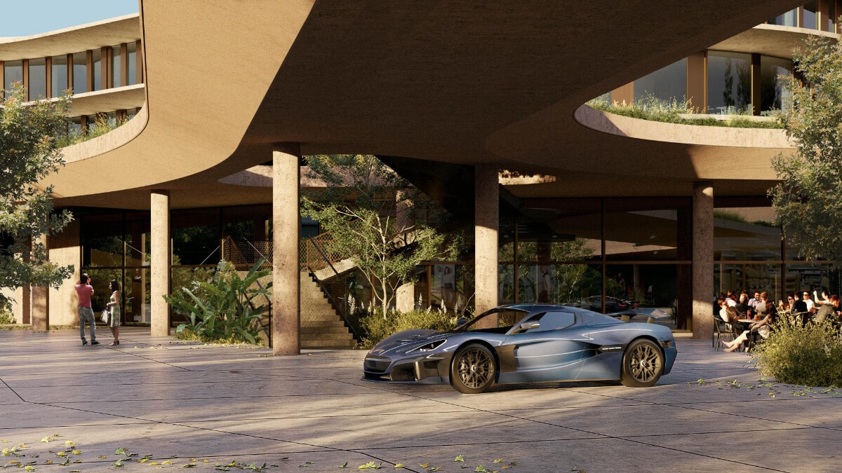 The new Rimac HQ featuring green spaces