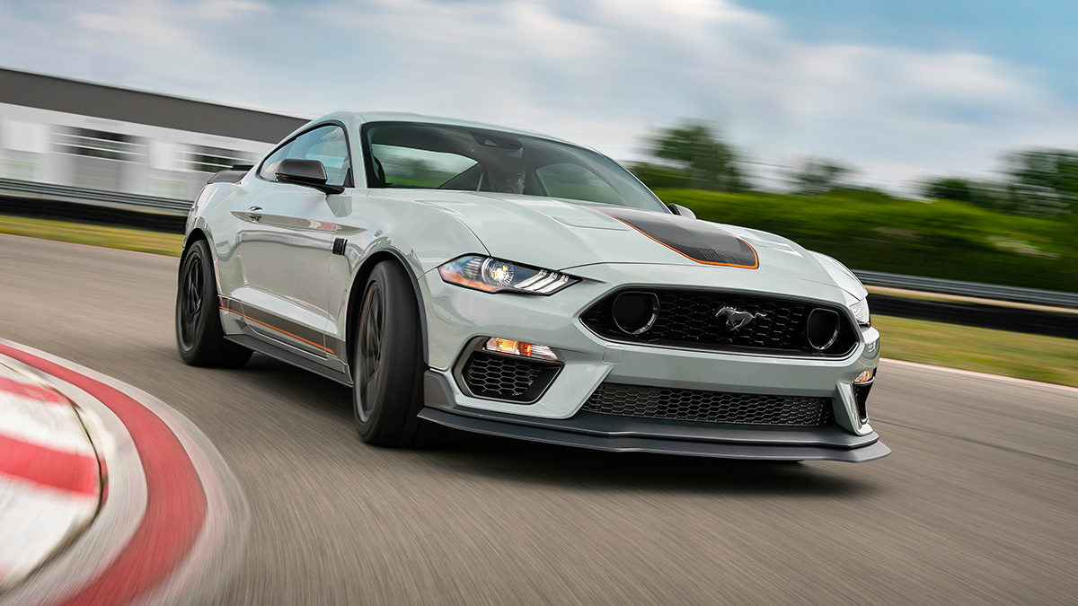 The Ford Mustang in White