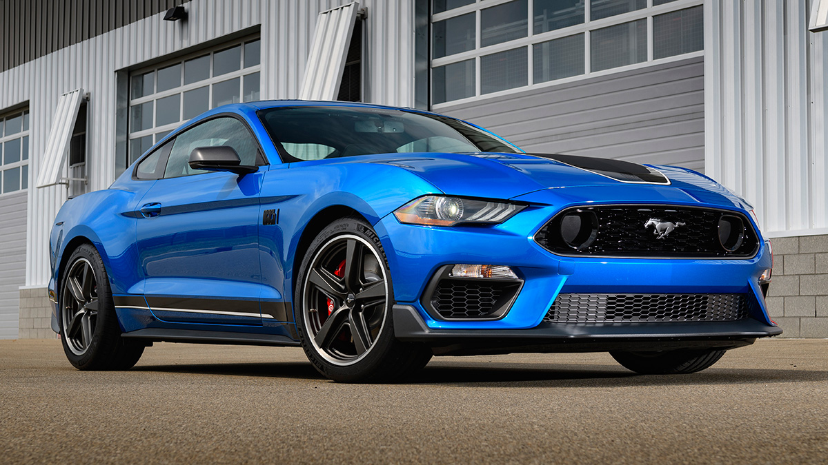 The Ford Mustang in Blue