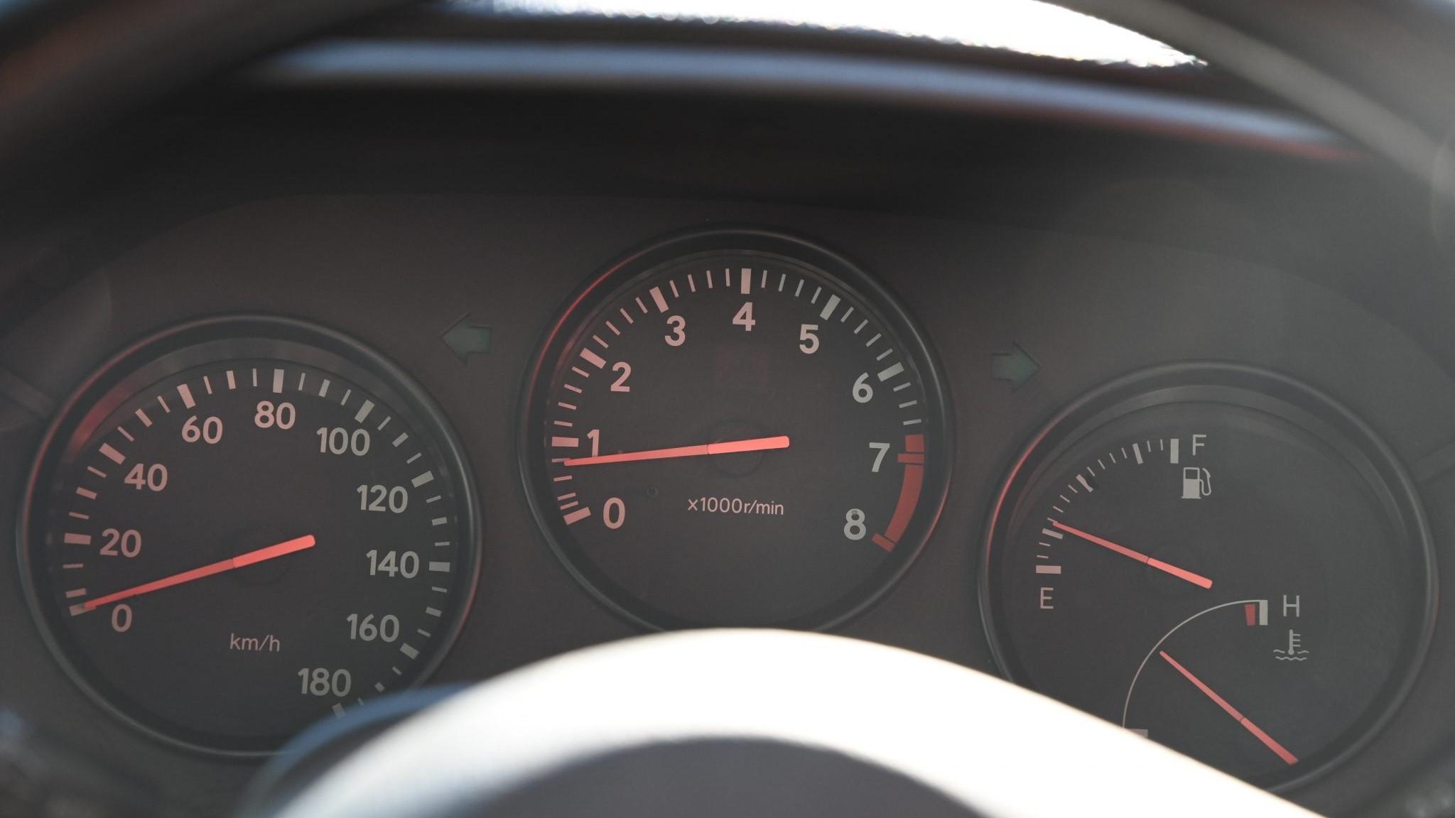 The Toyota RZ Odometer