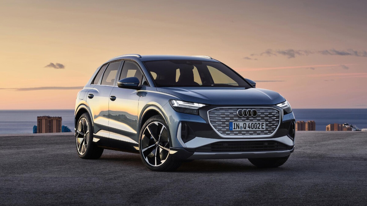 The Audi Q4 e-tron Angled Front View