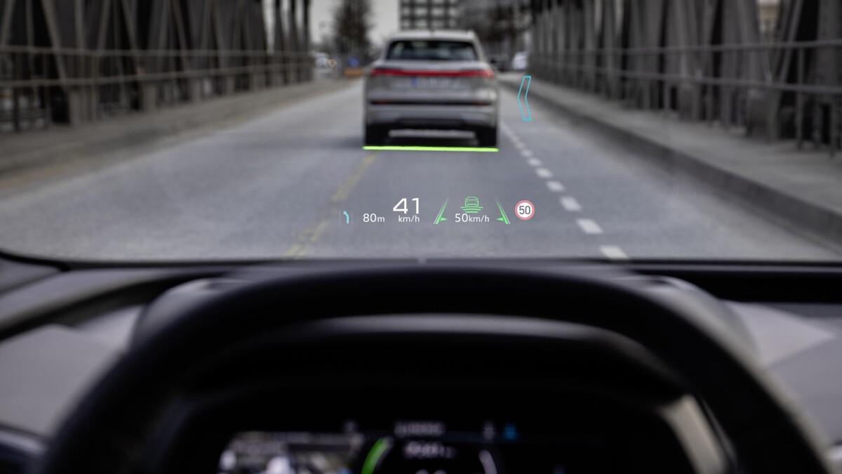 The Audi Q4 e-tron AR Headsup Display Windshield