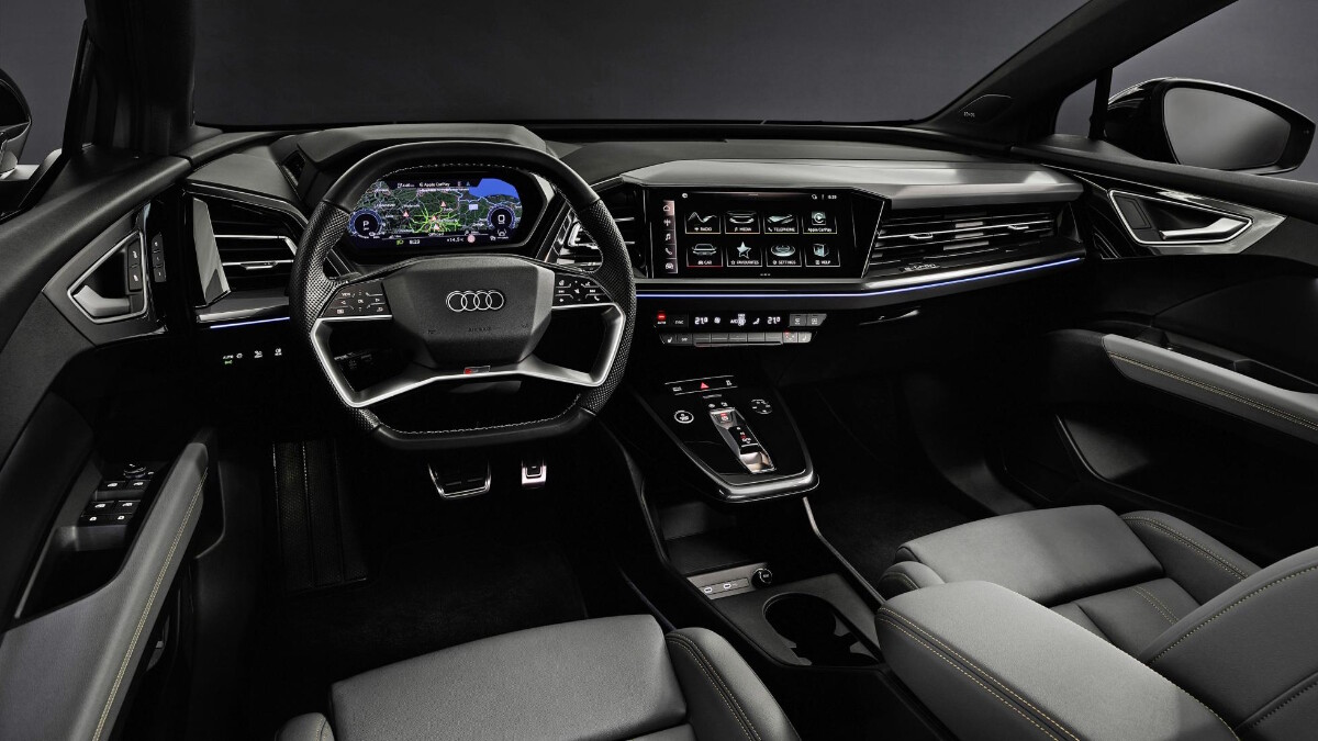 The Audi Q4 e-tron Dashboard and Steering Wheel