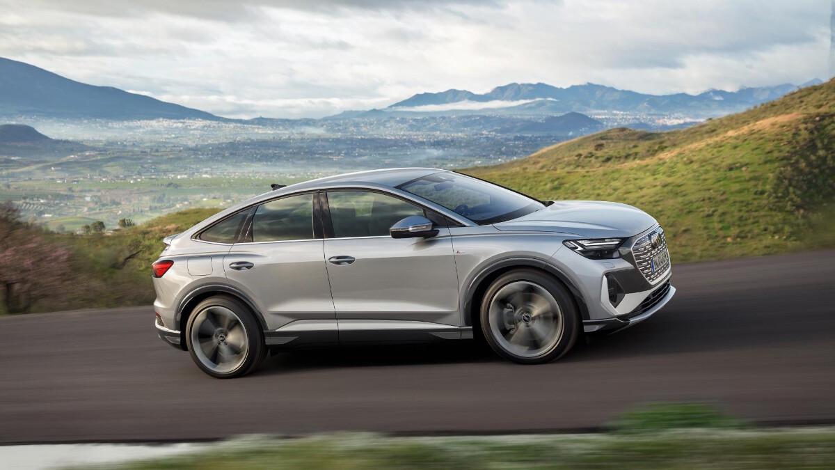 The Audi Q4 e-tron Angled Profile