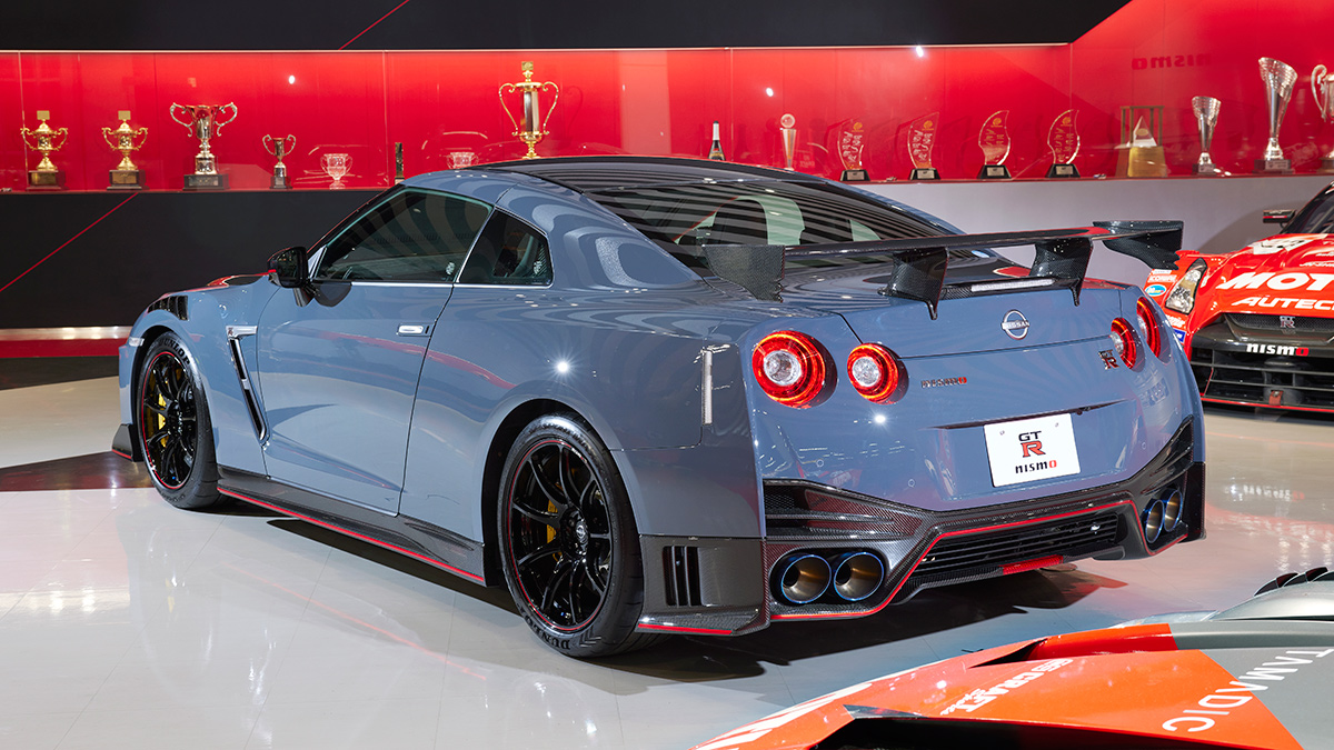 The Nissan GT-R Nismo Angled Rear View