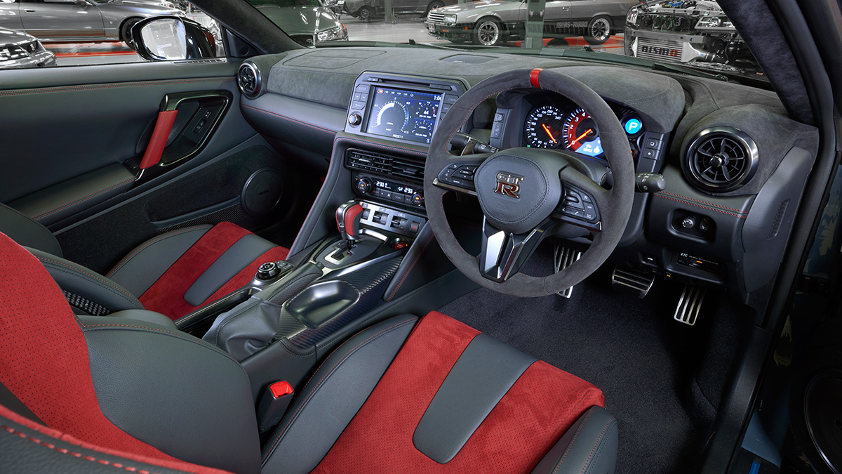 The Nissan GT-R Nismo Steering Wheel and Dashboard