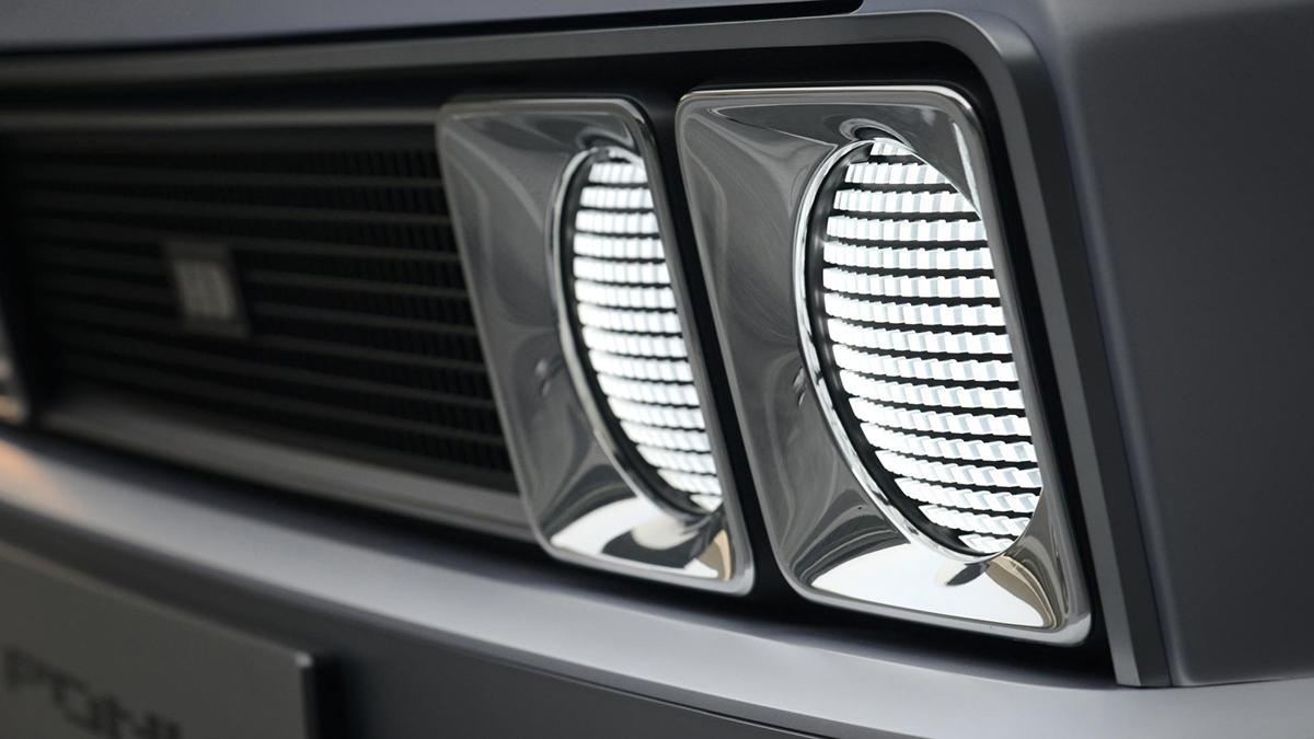 The Hyundai Pony Head Lamp Closeup