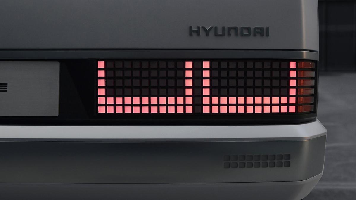 The Hyundai Pony Tail Lights