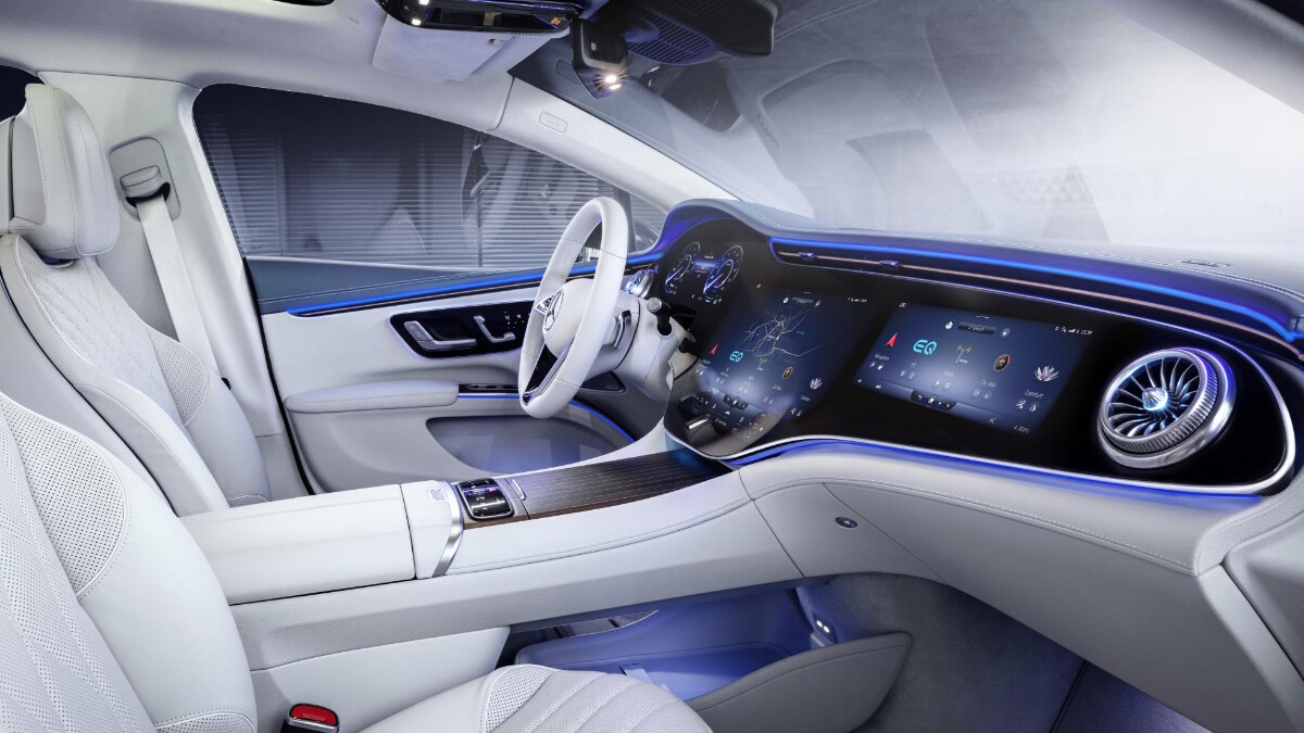 The Mercedes-Benz EQS Dashboard and Front Seat