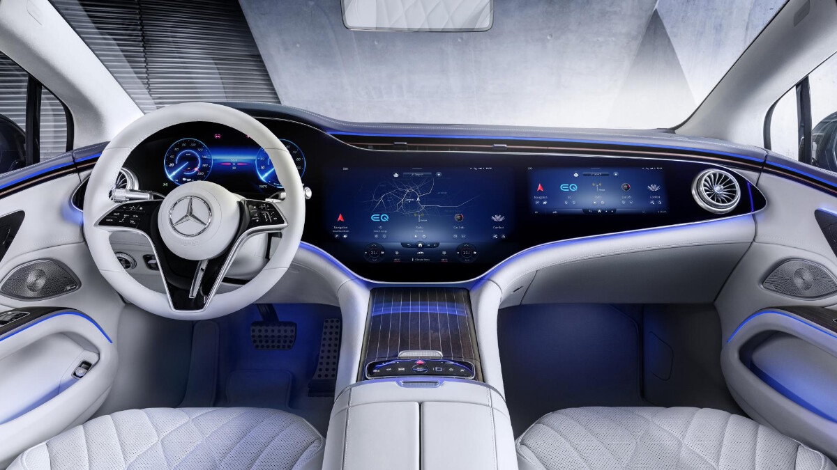 The Mercedes-Benz EQS Dashboard