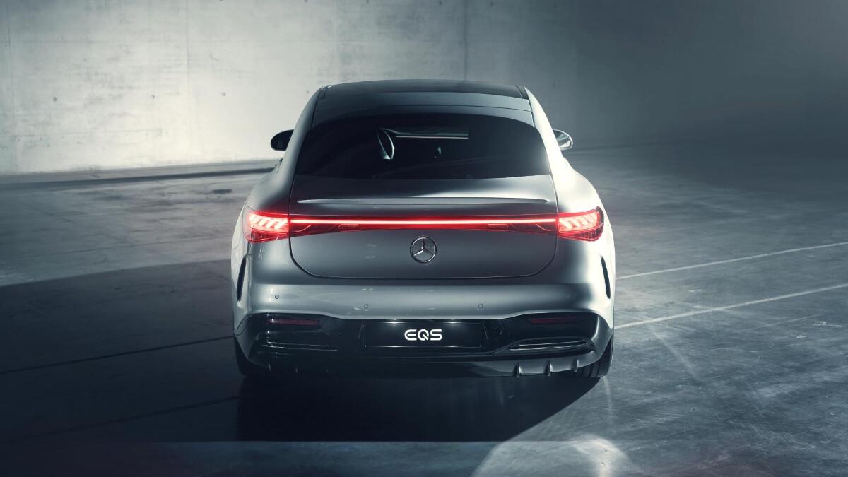 The Mercedes-Benz EQS Rear View