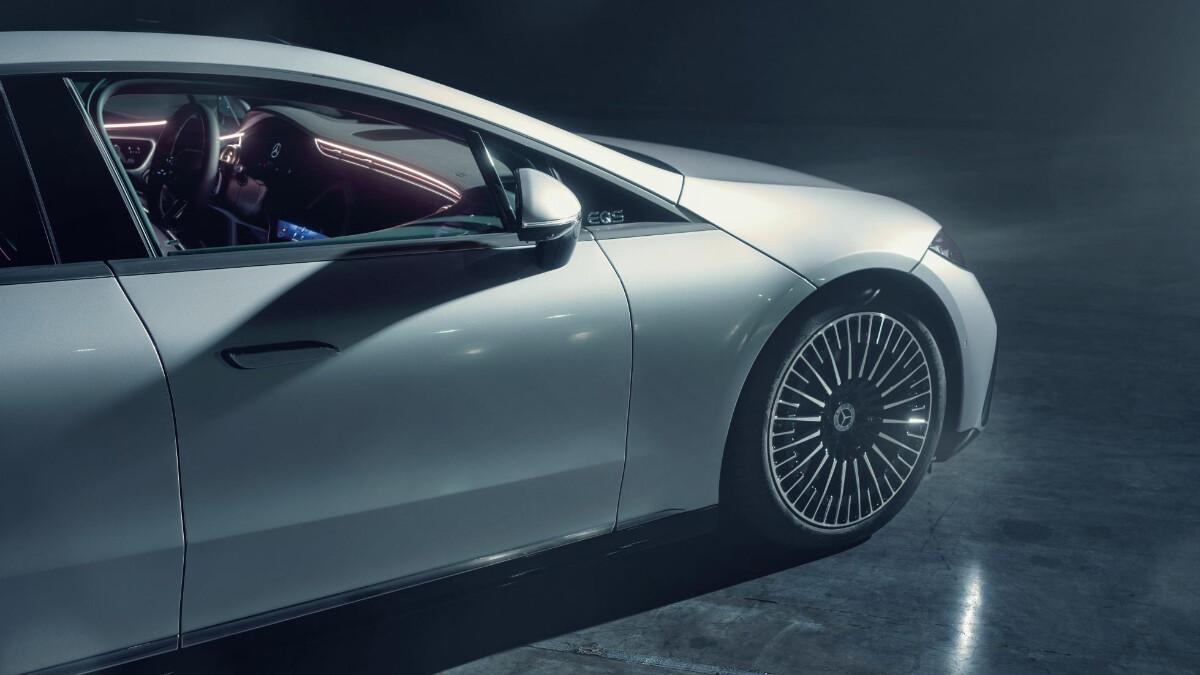 The Mercedes-Benz EQS Front Half