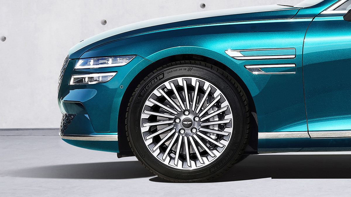 The Genesis Electrified G80 Front Tire