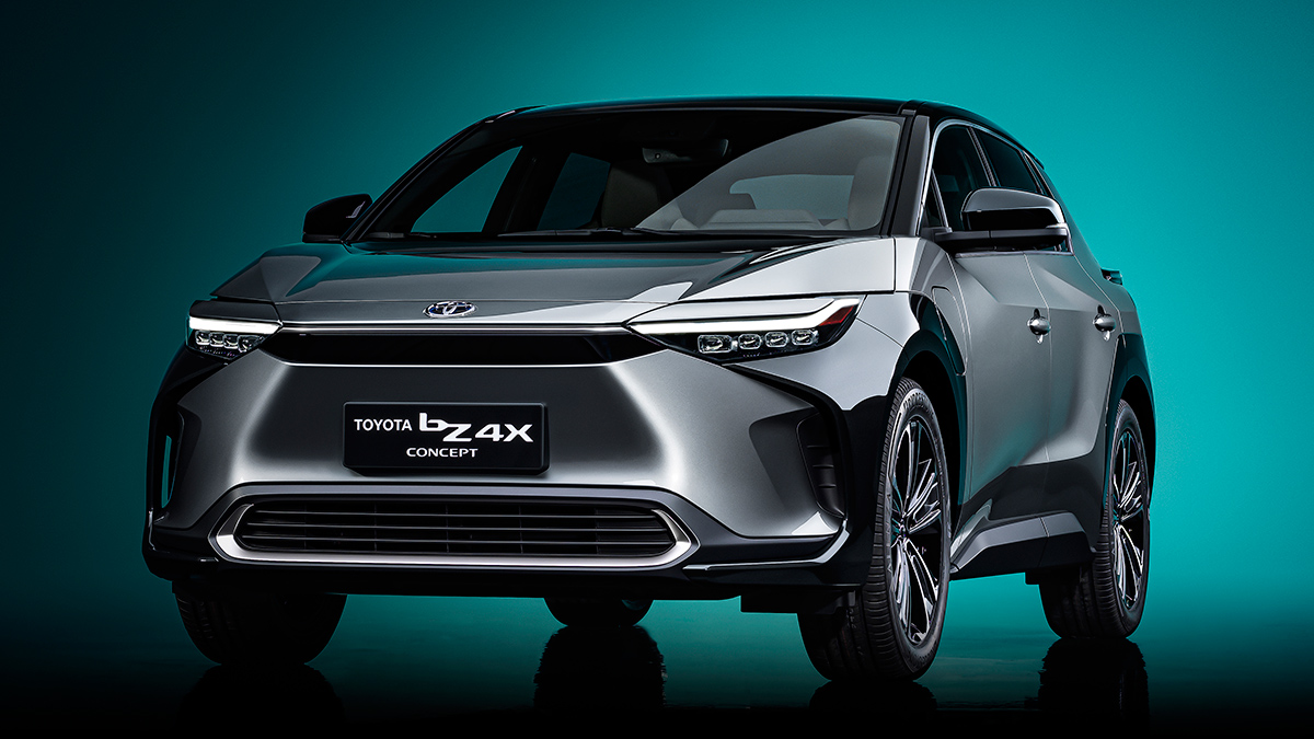 Toyota reveals bZ4X electric SUV at the 2021 Auto Shanghai