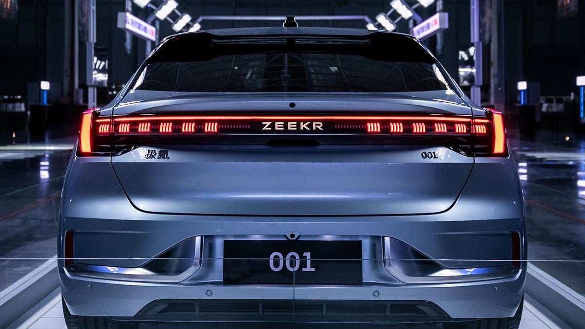 The Geely Zeekr 001 Rear View