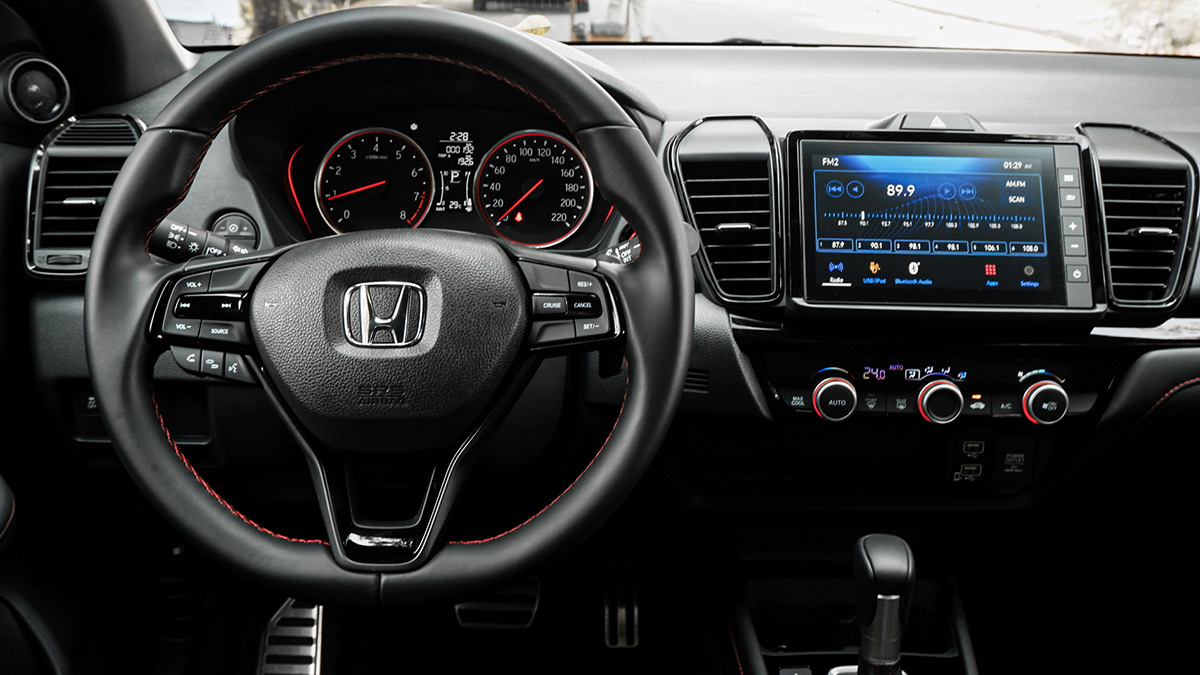 The Honda City Hatchback - Steering Wheel and Infotainment System
