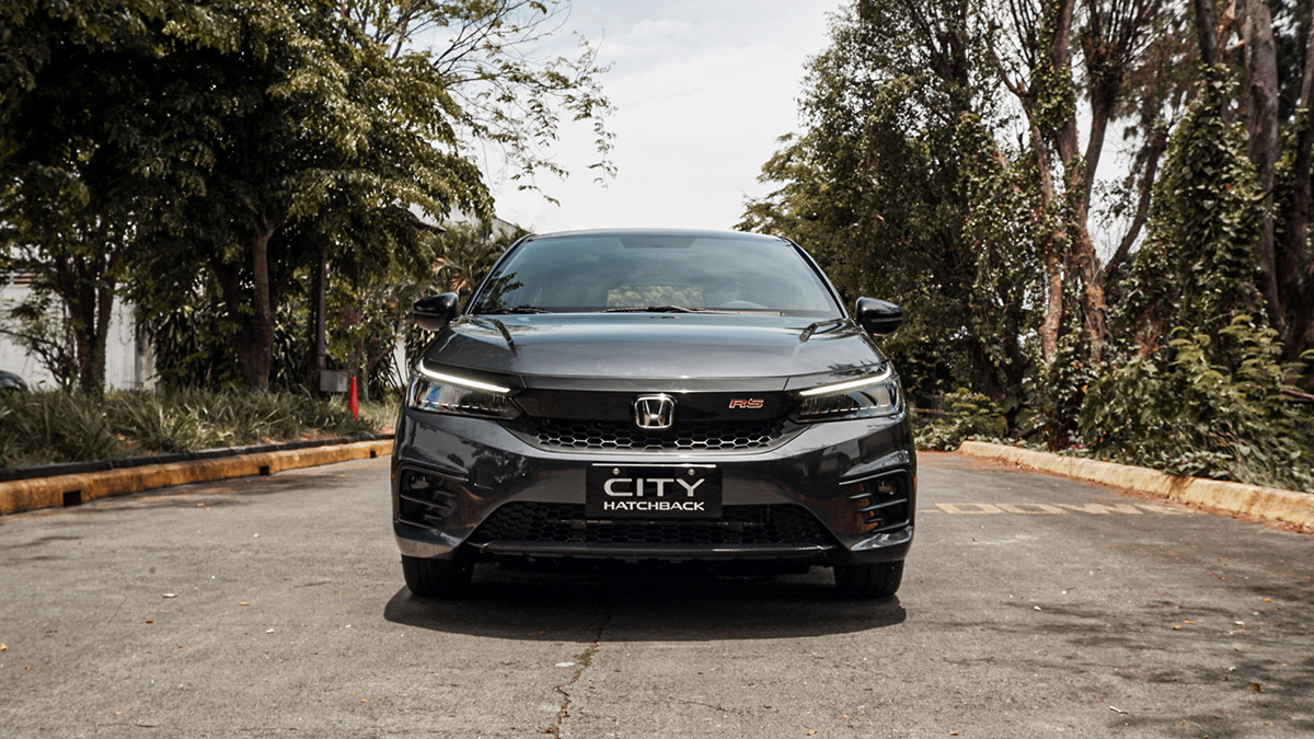 The Front View of the Honda City Hatchback