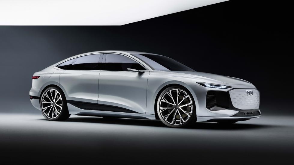 The Audi A6 e-tron concept Angled Profile