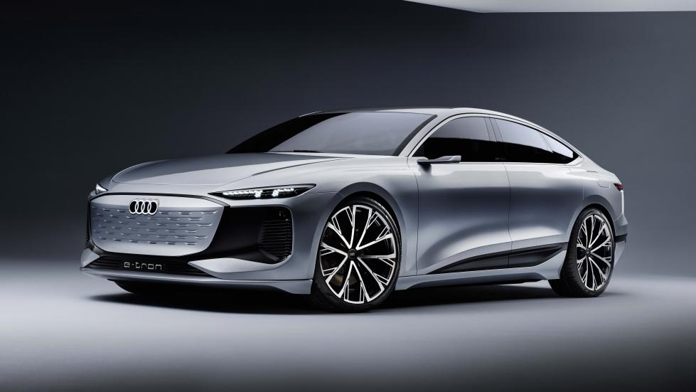 The Audi A6 e-tron concept Angled Front View