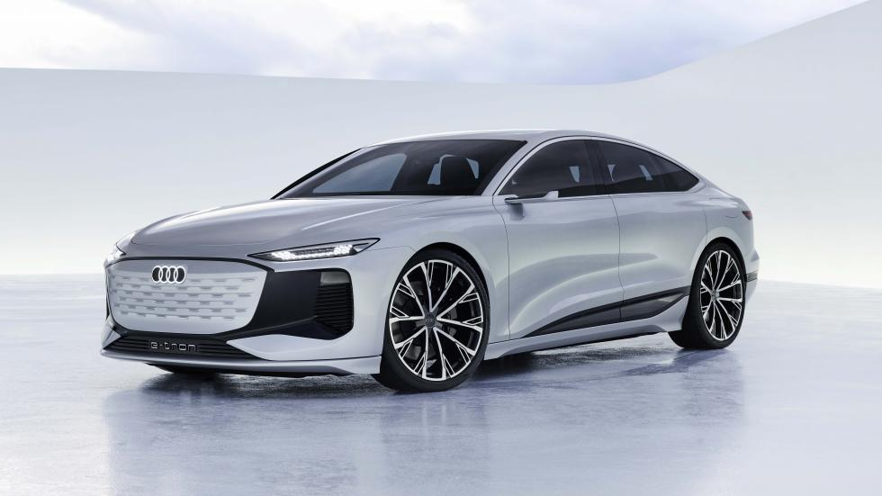 The Audi A6 e-tron concept Angled Front View Alternative Lighting