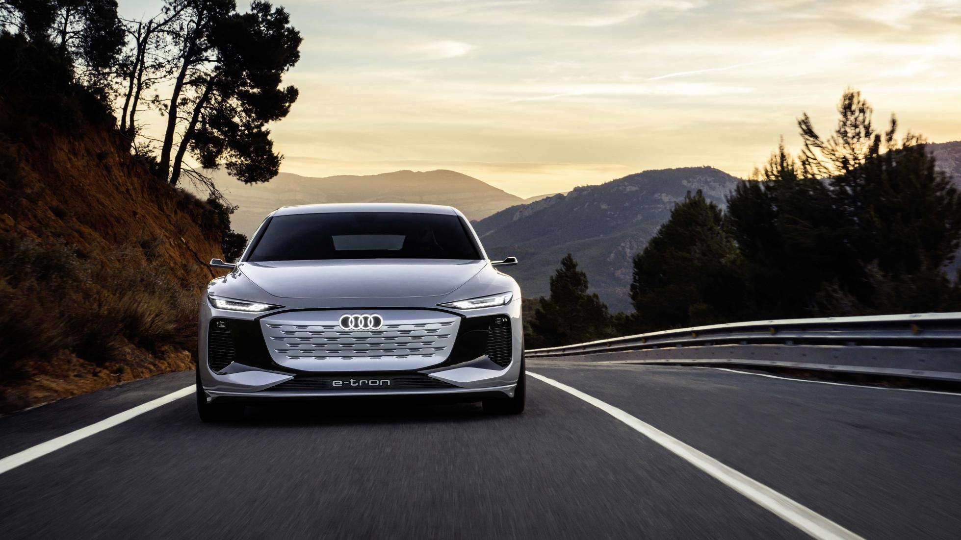 The Audi A6 e-tron concept Front View