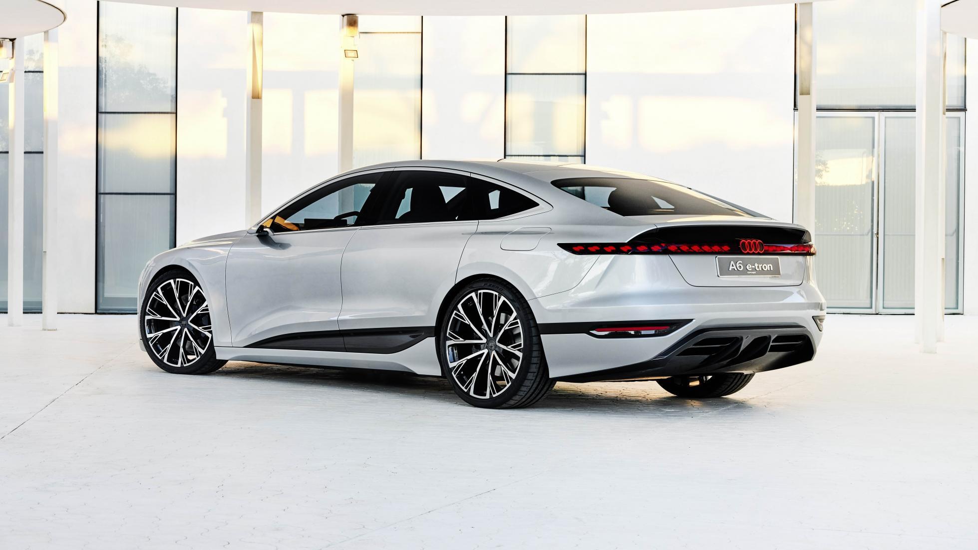 The Audi A6 e-tron concept Rear View Showcase