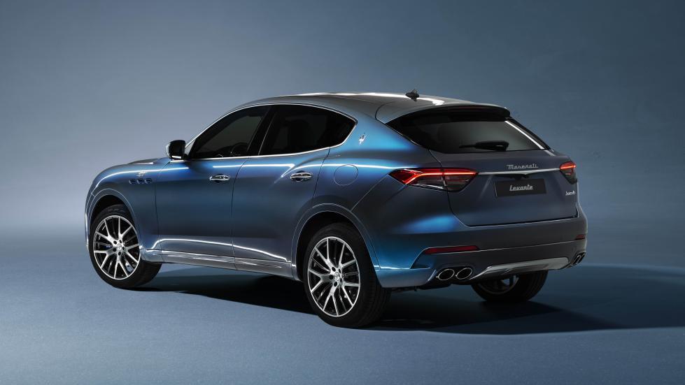 The Maserati Levante Hybrid Angled Rear View