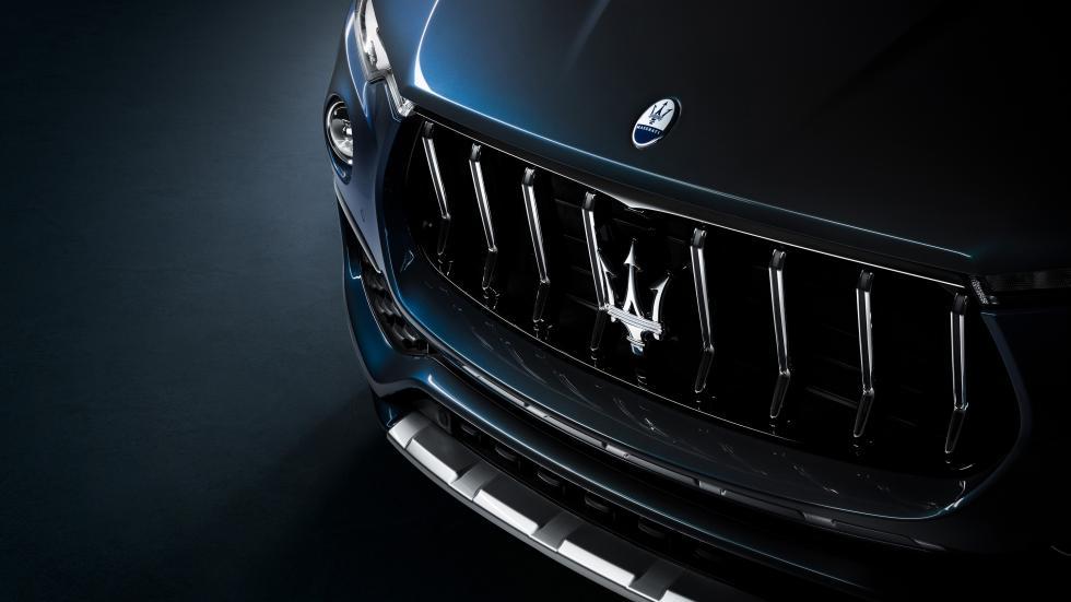 The Maserati Levante Hybrid Grille Close Up