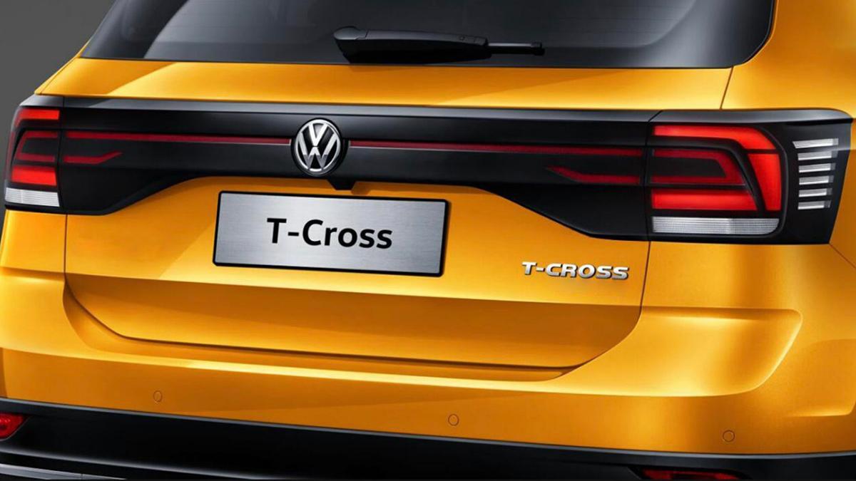 The Volkswagen T-Cross Rear Close Up