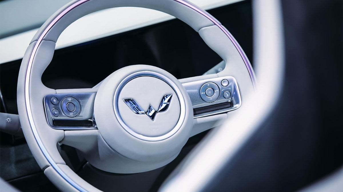 The Wuling Hong Guang Mini EV Steering Wheel