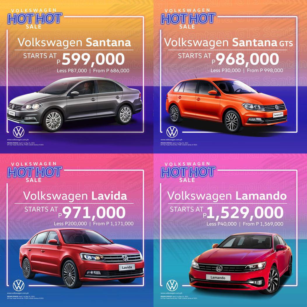 Volkswagen promotional poster for discounts in 2021